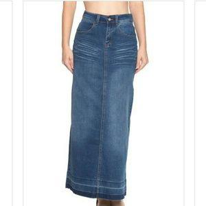 Long jean skirt